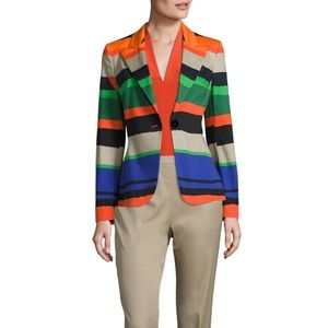 Escada Women's Green Bozica Striped Blazer